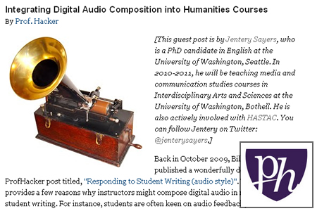 Audio Composition in the Humanities