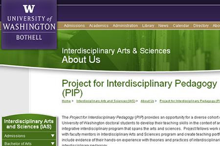 Project for Interdisciplinary Pedagogy