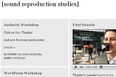 IAS 205: Sound Reproduction Studies